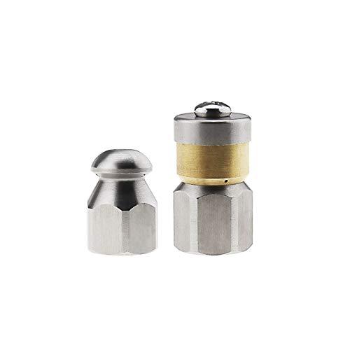 2 boquillas de chorro de desagüe G1/4 para lavadoras a presión (1 delantera, 3 traseras, 3 traseras)