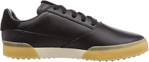 adidas Golf Mens Adicross Retro Leather Waterproof Spikeless Golf Shoes Core Black/Gold/Brown 9UK