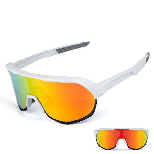 Gafas Ciclismo UV400 Protección Ciclismo Running marco de los vidrios polarizados gafas de sol deportivas Superlight Diseño de las mujeres por 3 lentes intercambiables de 6 colores de peso Ligero a Pr