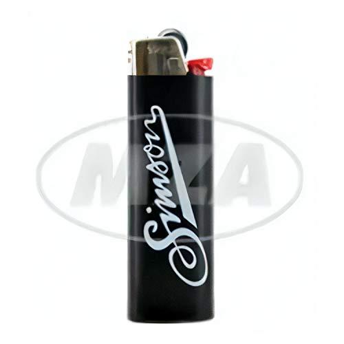 BIC-Feuerzeug, schwarz mit SIMSON - Logo + Schriftzug: Allzeit gute Fahrt