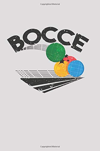 Bocce: Bocce Notizbuch 6x9 Zoll DIN A5 | 120 Seiten Punktraster | Boule Notizheft | BocciaTagebuch | Bullet Journal | Petanque Skizzenbuch