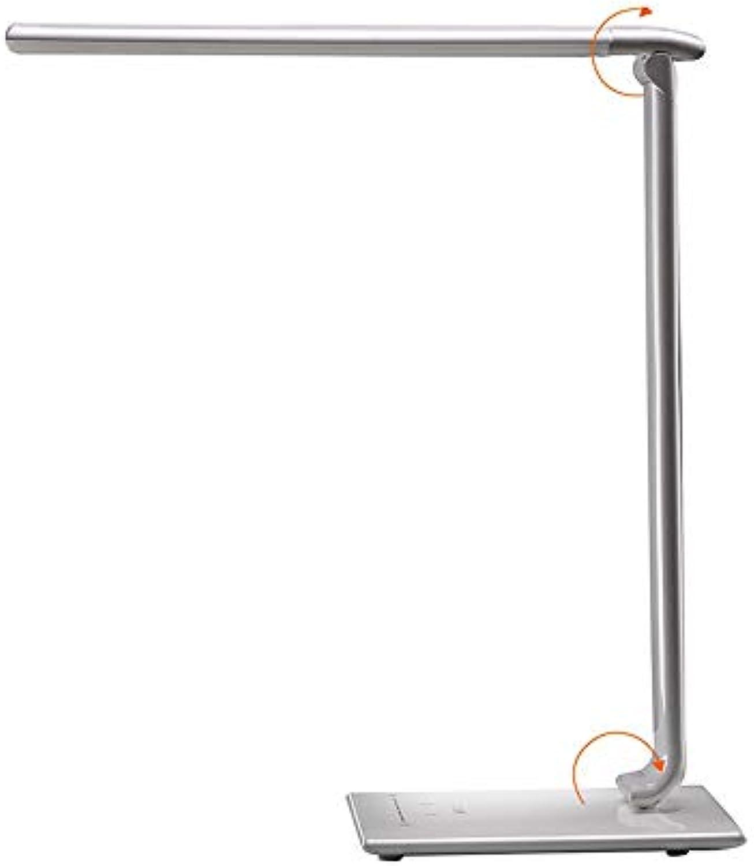LED-Tischleuchte, 35 Beleuchtungsoptionen und 5 Farbtemperatur-Berührungssensoren und blendfrei, Speicherfunktion 110-240V (Farbe   Wei)