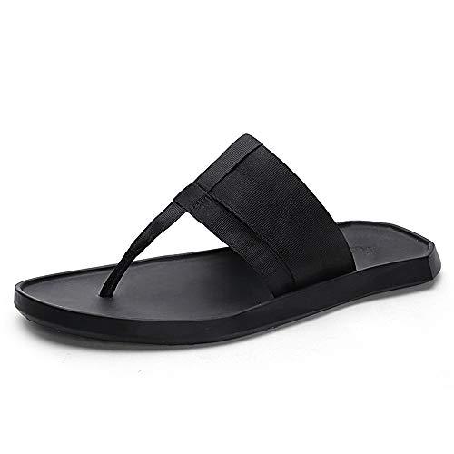 kengbi Zapatillas de Verano para Mujer de Verano Chanclas de Verano Zapatillas de Playa Chanclas de Playa Tanga Correas de Tejido de Punto Plano Sandalias cómodas (Color : Black, Size : 41 EU)