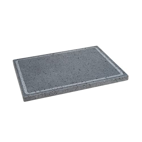 Lava Grill_M_Made in Italy Lava Stone ETNA Polished Plate for Oven and Barbecue Cooking Meat, Fish, Vegetables, Bread and Pizza
