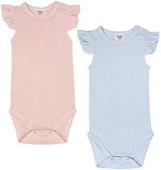 Elkrry Unisex Baby Short Sleeve Cotton Bodysuit