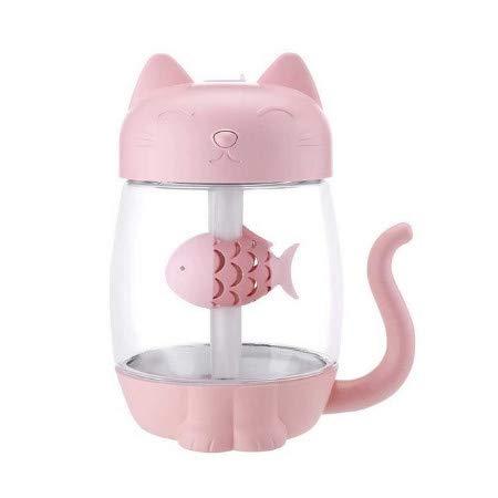 Tragbare 350 Ml Usb Cat Luftbefeuchter Ultraschall Nebelhersteller Mini Diffusor Lampe Luftbefeuchter Nebelmaschine Mit Mini Usb Fan Ligh B