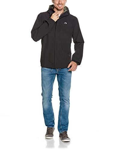 Tatonka Regenjacke Hempton M's Jacket - Outdoorjacke für Männer - wasserdicht, atmungsaktiv und Winddicht - PFC-frei - Regular Fit - Größe XXL - schwarz