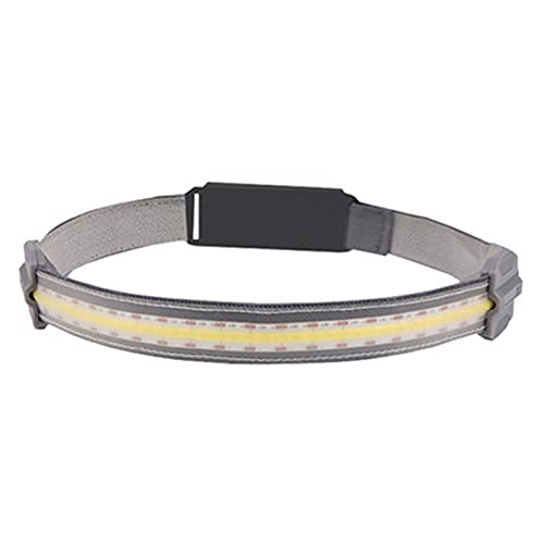 Qagazine Linterna de cabeza LED Super brillante Premium USB recargable faro con diseño impermeable cómodo linterna para correr camping caza