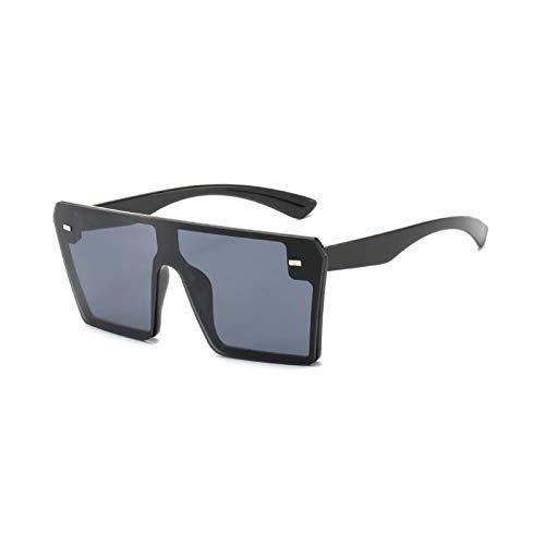 2019 negro gafas de sol de mujer marco grande vintage retro UV400 diseñador de gran tamaño