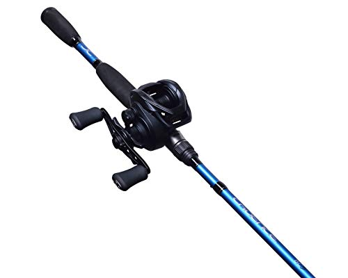 Cadence Baitcasting Combo, BC5 Baitcaster Combo Rod and Reel Combo, 7 Foot 24 Ton Graphite Rod Blank, 2 Piece Split Design, 20 pounds Carbon Fiber Drag Reel & Rod Fishing Combo