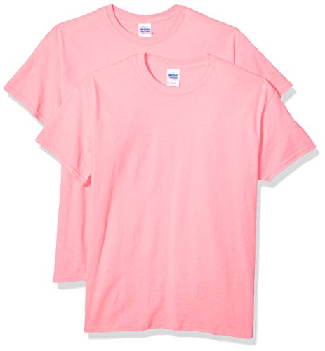 Gildan Men's G2000 Ultra Cotton Adult T-Shirt, 2-Pack, Safety Pink, X-Large