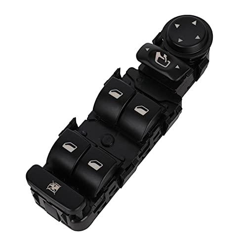 Rumors Apto para Citroen C5 I, II, C8 Interruptor de Ventana (con función Plegable de Espejo) Black