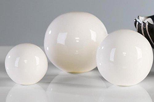 Casablanca Dekokugel 'Whiteball' weiß 3erSet