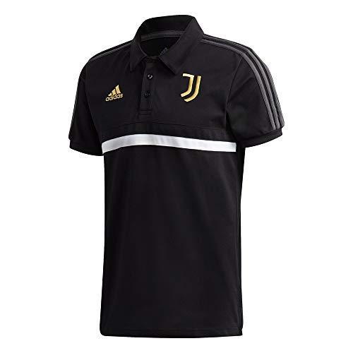adidas Juve 3S Polo, Uomo, Black/White/Pyrite, XS