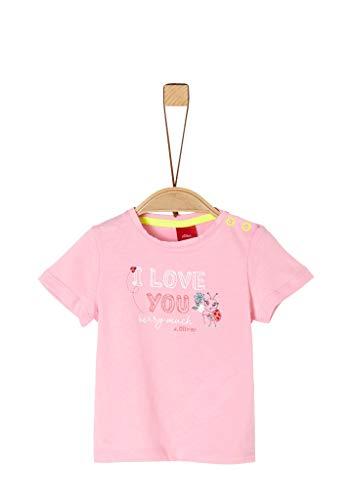 s.Oliver Junior Baby-Mädchen 405.10.004.12.130.2019199 T-Shirt, Rosa (4145 Puder pink), 74 EU