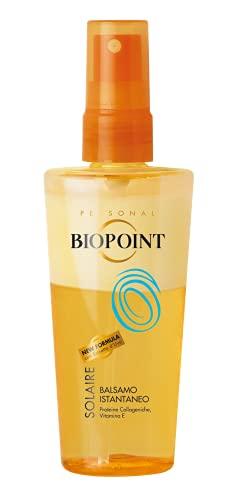 Biopoint Balsamo Bifase Solare Per Capelli 100 ml - Senza Risciacquo, Idrata in Profondità Contrastando l'Azione Dissecante di Sole e Mare