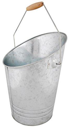 Esschert Design Kohleeimer, Kohlekübel aus Zink. ca. 31 cm x 27 cm x 40 cm