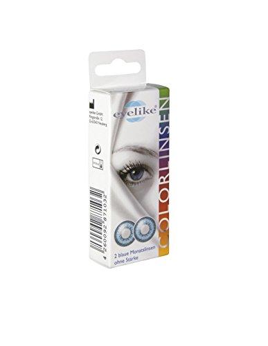 Eyelike farbige Monatskontaktlinse ohne Dioptrie grün, 2 Monatskontaktlinsen