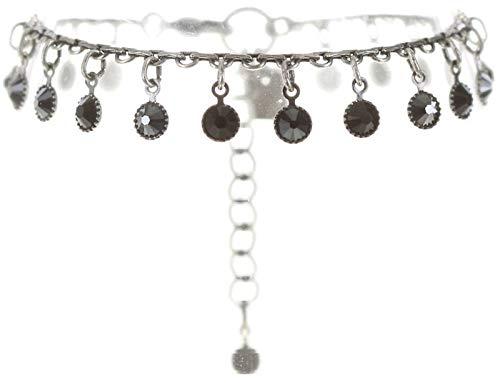 Konplott Waterfalls Armband für Frauen   Exklusiver Designer-Schmuck mit 19 Swarovski-Steinen   Verstellbares Armband   Handgefertigter & limitierter Damen-Schmuck   Modeschmuck für Sie   Schwarz