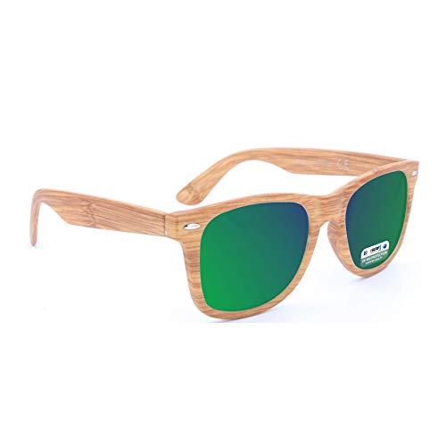 ISURF EYEWEAR Occhiali da Sole Modello Blues Brothers Effetto Legno Specchio SPECCHIATI Outfit …