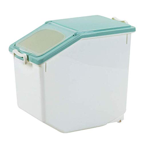 woyaochudan Contenedor de Almacenamiento de arroz de 15 kg, contenedor de Almacenamiento de arroz con poleas contenedor de Cereales, contenedores de Cereales