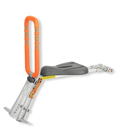 RongWang Siège de vélo pour Enfant, Porte-vélo portatif, Pliable et ultraléger à Montage Avant pour bébé avec Main Courante pour vélos de Montagne (Color : Orange)
