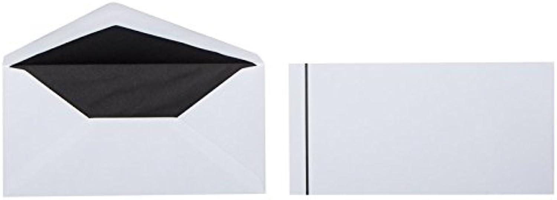 Trauerbriefumschläge mit schwarzem schwarzem schwarzem Streifen und Innenfutter im Format DIN lang 110 x 220 mm, Grammatur  100 g m², Farbe  Weiß, 100 Stück B014MJU19Y | Sale Online  4c482c