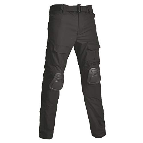Military Ba Men's Tactical Pants Lightweight EDC Assault Cargo Tactical Men's Taclite 1St Responder EMS EMT Uniform Work Pants-Black-US 30(33-35W tag 34)