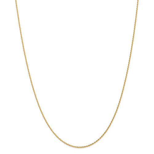 14k Yellow Gold 1.1mm Baby Link Rope Chain Necklace 16 Inch Pendant Charm Fine Jewelry For Women Gifts For Her