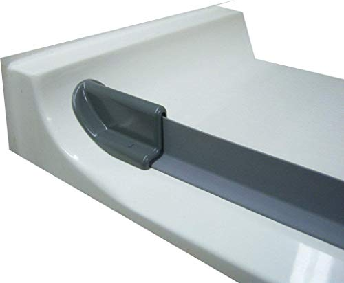 Bestbath (3 foot, Grey) - WaterStopper - Collapsible T-Shaped Threshold - Self Adhesive - Shower Water Dam