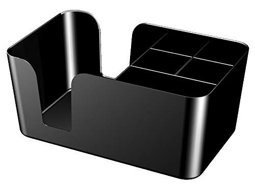 """Garnet Organizer in plastica """"Bar Caddy"""" – Porta tovaglioli Quadrato, cannucce. Misure cm 24x15x10,7 h – Set da 2 pz-Made in Italy"""