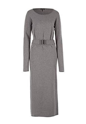 Lange gebreide jurk van Apart - kleur grijs melange