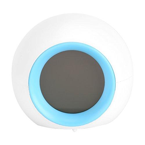 Fdit Sonnenaufgang-Wecker mit Temperaturüberwachung Beste Aufwachleuchte mit 7 Farbwechsel-Schlummerfunktion und Sonnenaufgang-Simulator-Wecker für Nacht, Erwachsene und Kinder MEHRWEG VERPAKUNG