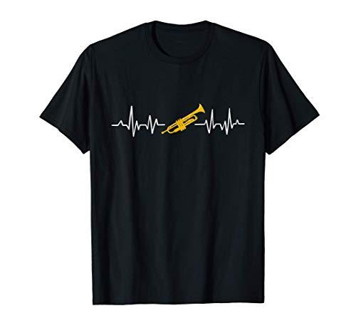 Trompeta. El latido del corazón. La música. Trompetista Camiseta
