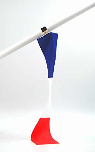 5er-Set Frankreich mini-Flagge | Flexible kleine Deko-Fahne | Fan-Artikel zur Dekoration in National-Farben für Fußball Handball WM EM Auto Boot Tasche oder Schüler-Austausch Messe Urlaub u.v.m.|