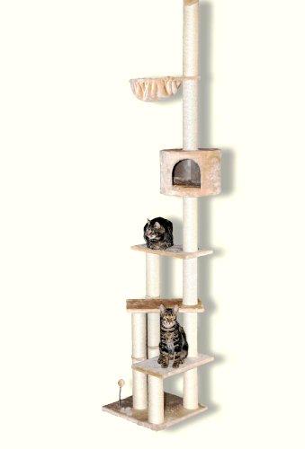 Silvio Design Kletterbaum, Kletterturm, Kratzbaum Kitty, Maße: ca. 45 x 45 x 240 cm