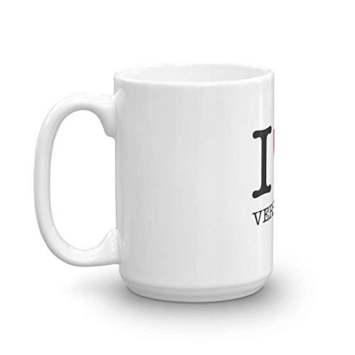 Yo bdquo; centavo; VERSALLES. Tazas de cerámica brillantes de 11 oz, regalo para amantes del café, taza de café única. Taza de cerámica fina de 11 oz con acabado esmaltado impecable