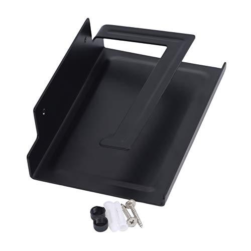 LPOQW Soporte de papel higiénico con soporte de teléfono Soporte de papel para papel higiénico Contenedor de almacenamiento de papel montado en la pared para baño, cocina, baño, accesorios de hardware
