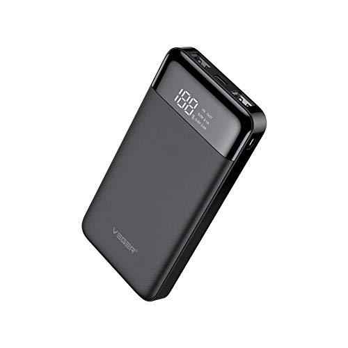 Veger W1056 LCD Display 10000 mAh Li Polymer Power Bank (Black)