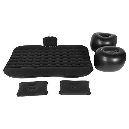 Cojín de Descanso para Dormir Cama de Viaje Colchón de Aire Colchoneta Inflable portátil y Agradable a la Piel Material Suave para 95% Modelos SUV, sedán y MPV para Viajes Largos(Black)