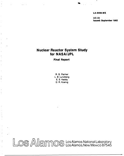 Nuclear reactor system study for NASA/JPL (English Edition)