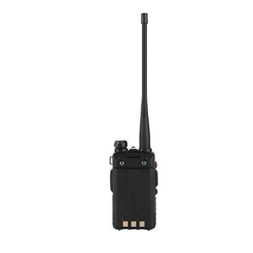 Walkie Talkies Profesional - 8W UV-5R VHF UHF Radio Walkie Talkie portátil con Doble Banda, Pantalla LCD, 128 Canales de Memoria, Linterna LED(EU)