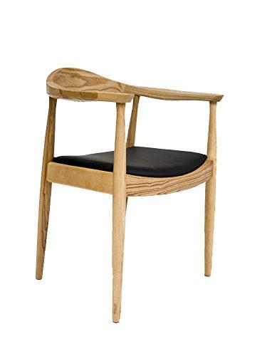 """Oui Home - Silla nordica Estilo Pp503 - """"The Chair"""" Negro/Madera"""