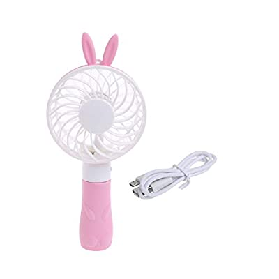 VT BigHome Portable Hand Fan Battery Operated USB Power Handheld Mini Fan Cooler with Strap