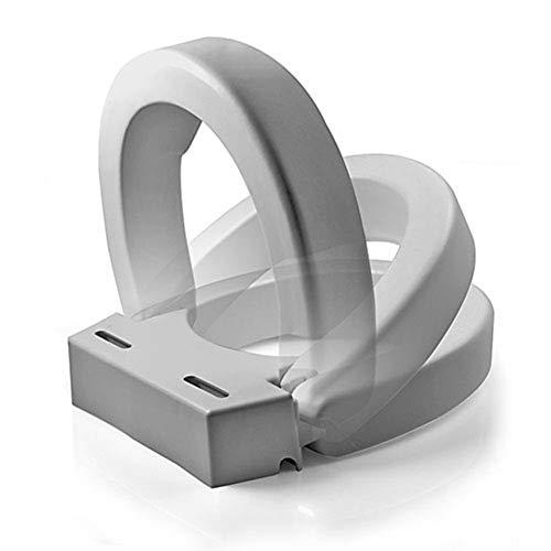 Maddak 72571-1005 Ableware Hinged Elevated Toilet Seat, Elongated, white