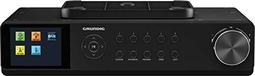 Grundig DKR3000BT DAB + WEB Küchenradio mit Bluetooth, DAB + Empfang und Internetradio Schwarz