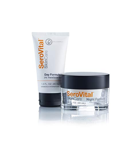 Serovital Day and Night Total Facial Rejuvenation System, Anti Aging Skin Care Sets for Women, Anti Wrinkle Cream for Face, Facial Kit, 1 Count