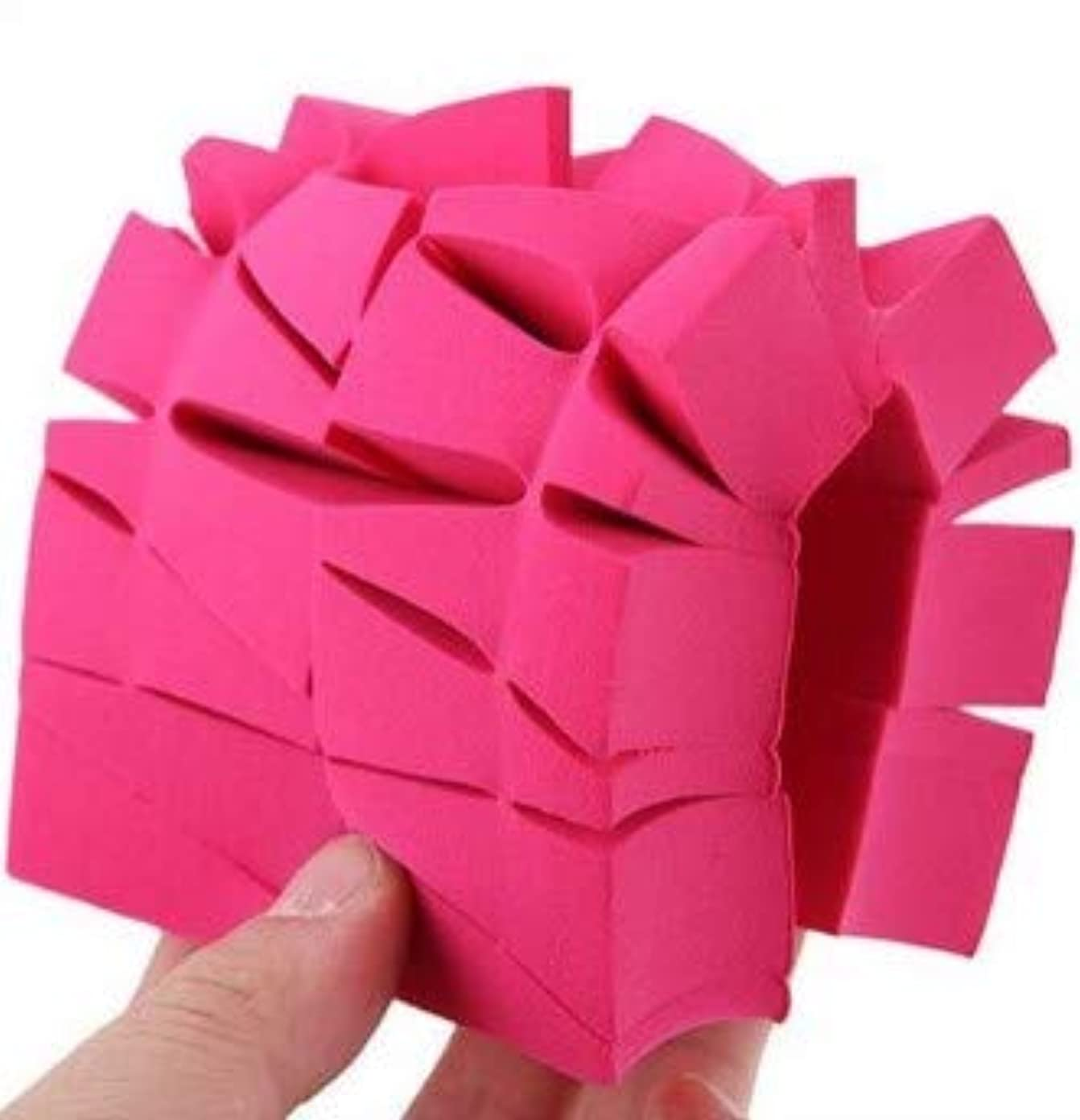 哲学写真を撮る受動的Giikkl 三角化粧品パフスポンジ 購入へようこそ (Color : Rose red)