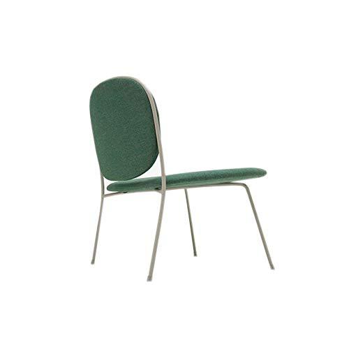 Busirsiz nórdico Silla del Ocio Silla Perezosa del sofá al Aire Libre casero único Tejido Silla cómoda Moderna Minimalista Verde 70 × 63 × 73cm
