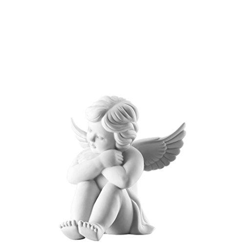 Rosenthal - Engel sitzend - groß - Weiss matt - Porzellan - 14 cm